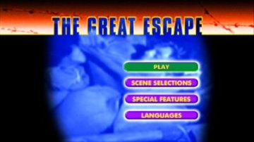 DVD menu for The Great Escape
