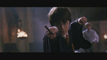 harry potter chamber of secrets wand battle