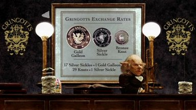 Gringotts Exchange Rate from Harry Potter and the Sorcerer's Stone DVD