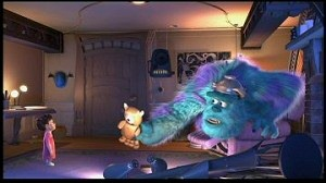 Sulley and Boo from Monsters, Inc.