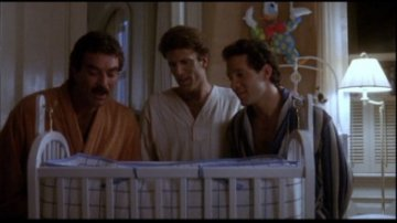 Tom Selleck, Ted Danson and Steve Gutternberg from Three Men and a Baby