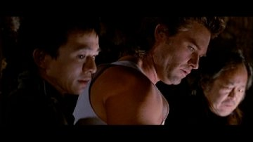 Dennis Dun, Kurt Russell, and Victor Wong from Big Trouble in Little China