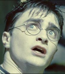 Harry Potter startled