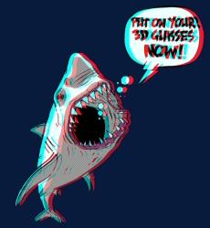Shark 3D shirt from Threadless