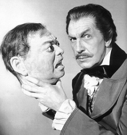 Vincent Price and friend