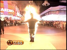 Criss Angel on fire