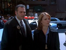 Vincent D'Onofrio and Kathryn Erbe from Law and Order: Criminal Intent