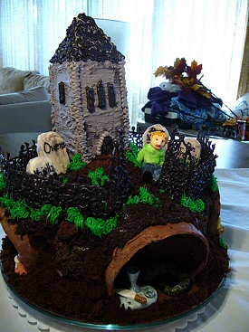 Graveyard Book Cake - Front