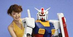 Human-sized Gundam
