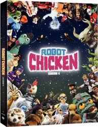 Robot Chicken Season 4 DVD cover art