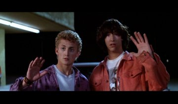 Alex Winter and Keanu Reeves from Bill and Ted's Excellent Adventure