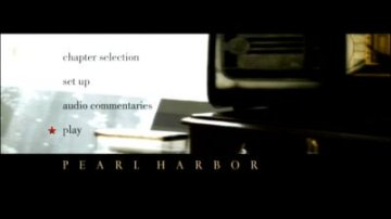 Pearl Harbor DVD menu
