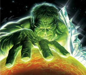 Planet Hulk poster by Alex Ross