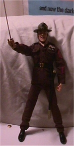 R. Lee Ermey toy with saber