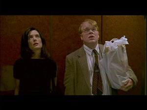 Lara Flynn Boyle and Philip Seymour Hoffman from Happiness