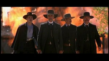 Val Kilmer, Sam Elliot, Bill Paxton, Kurt Russell in Tombstone