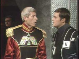 John Woodvine and Davyd Harries in Doctor Who The Armageddon Factor