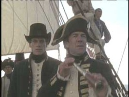 Ioan Gruffudd and Robert Lindsay in Horatio Hornblower