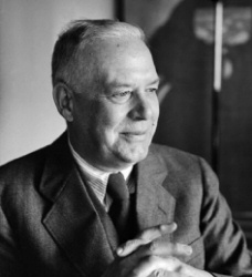 Wallace Stevens smiling