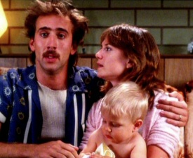 Nicolas Cage and Holly Hunter from Raising Arizona