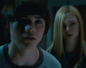 Joel Courtney and Elle Fanning from Super 8