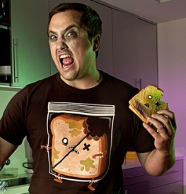 Threadless zombie sandwich