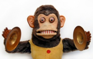 Scary Monkey With Cymbals