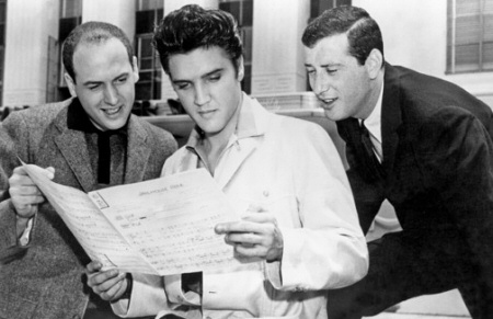Mike Stoller, Elvis Presley and Jerry Leiber