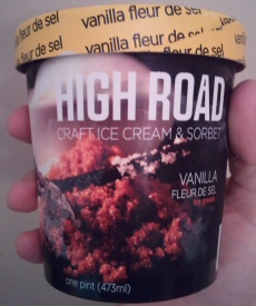 Vanilla Fleur de Sel Ice Cream by High Road Craft