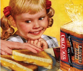 Creepy Kid vs. grilled cheese