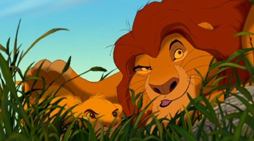 Simba and Mufasa from The Lion King
