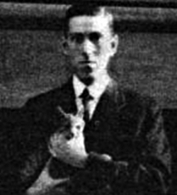 Lovecraft with cat