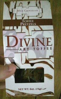 Divine Art Toffee: Milk Chocolate Toffee Pretzels