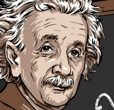 Einstein vs. Human Centipede mashup Tshirt Bordello