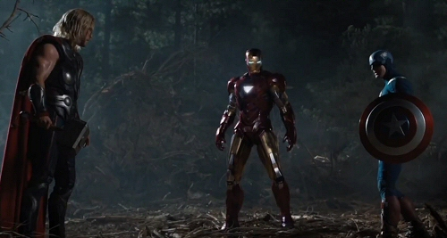 Thor, Iron Man and Captain America from The Avengers