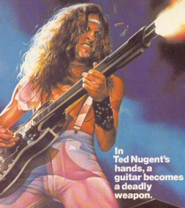 Ted Nugent Heavy Metal ad