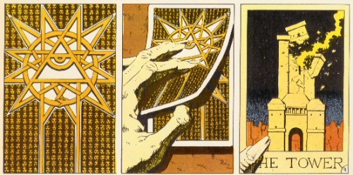 Tarot card and Tower from Heavy Metal by Kirchner