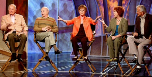 Harvey Korman, Tim Conway, Carol Burnett, Vicki Lawrence and Lyle Waggoner from The Carol Burnett Show: Lets Bump Up the Lights