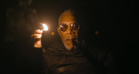 Morgan Freeman as Malcolm Beech from Oblivion