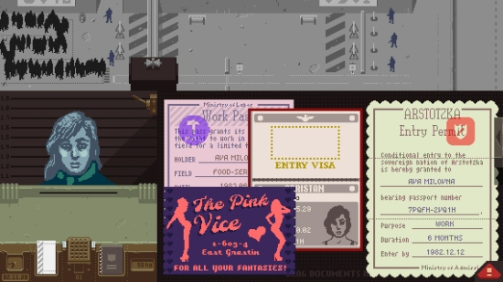 Papers, Please gameplay