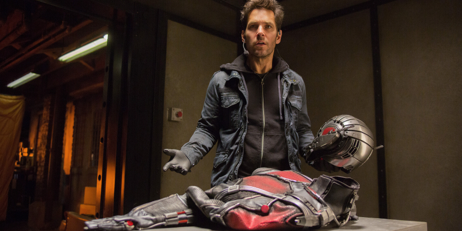 Paul Rudd as Scott Lang in Ant-Man